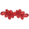 Motif Sequin 20.5x7cm Red with matching Centre Stone
